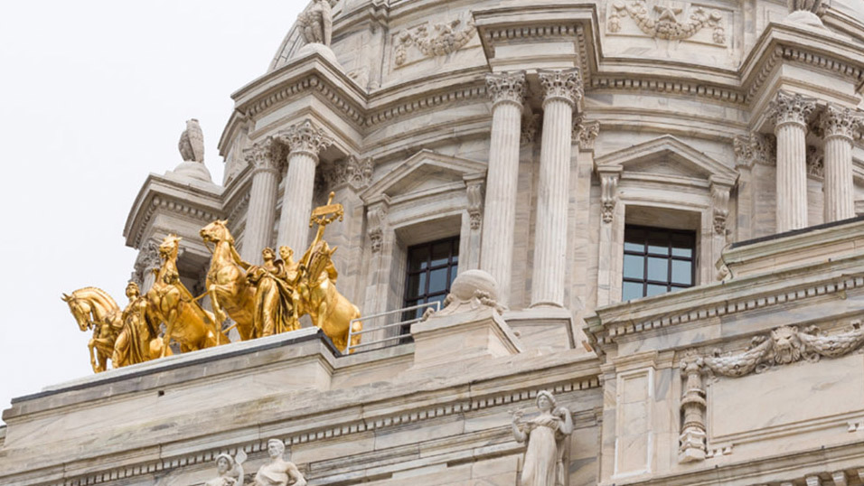 Detail of the Minnesota State Capitol building