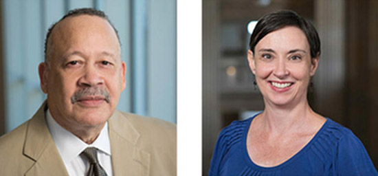 Head shots of Samuel Myers Jr. and Kathy Quick