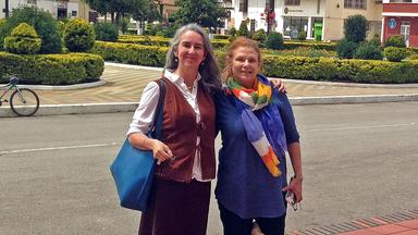 Greta Friedemann-Sánchez and Margaret Grieve in Colombia