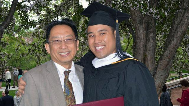 Jonathan Truong and his father Loc Hoang Truong